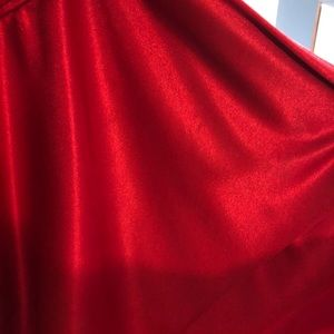 Blondie Nites Dresses - Red tube top strapless dress size 5